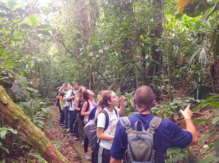 A walk in the rainforest for Forest Ecosystem Management grads.