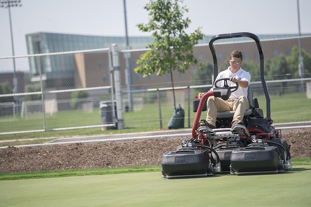 Maintaining the turf on golf courses and sports fields