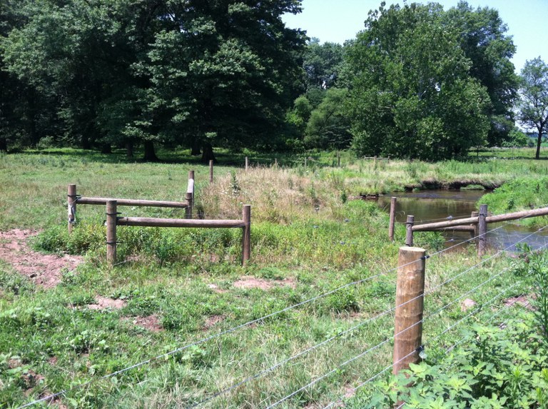 Stream bank fencing was among the practices reported in the survey.