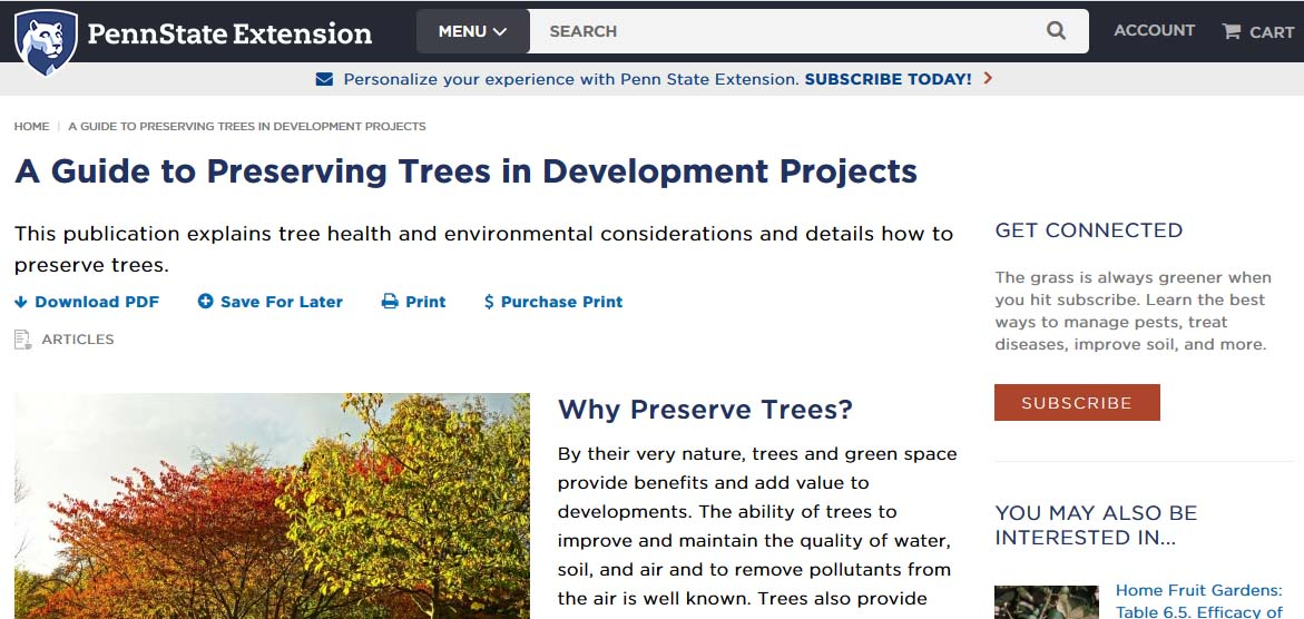 article on trees