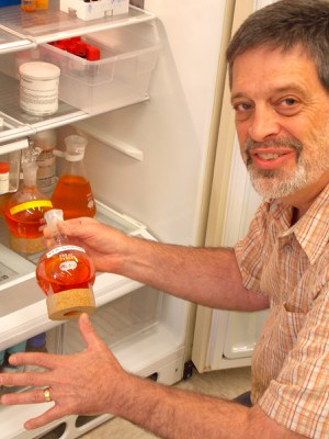 Food Science Professor Dr. Gregory R. Ziegler hopes to commercialize a brilliant orange made from avocado pits as a natural food coloring. (Photo by Lisa Duchene)