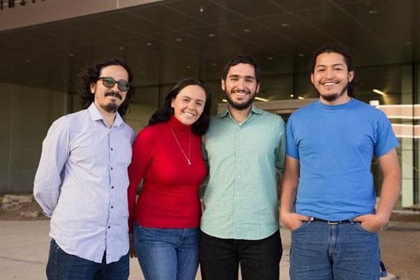 From left, fellows Jhony Armando Benavides Bolaños, Lina Marcela Tami Barrera, Alejandro Gil Aguirre and Johann Shocker Restrepo Rubio