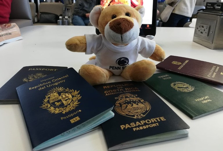 The Nittany Lion is ready to virtually travel with you!