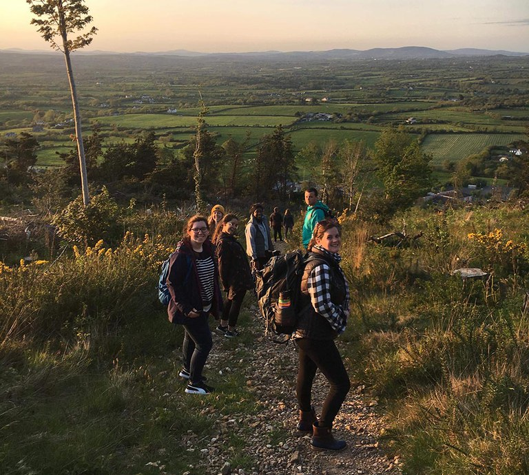 A brisk hike through Tara Hill which displayed Ireland's natural beauty ahead