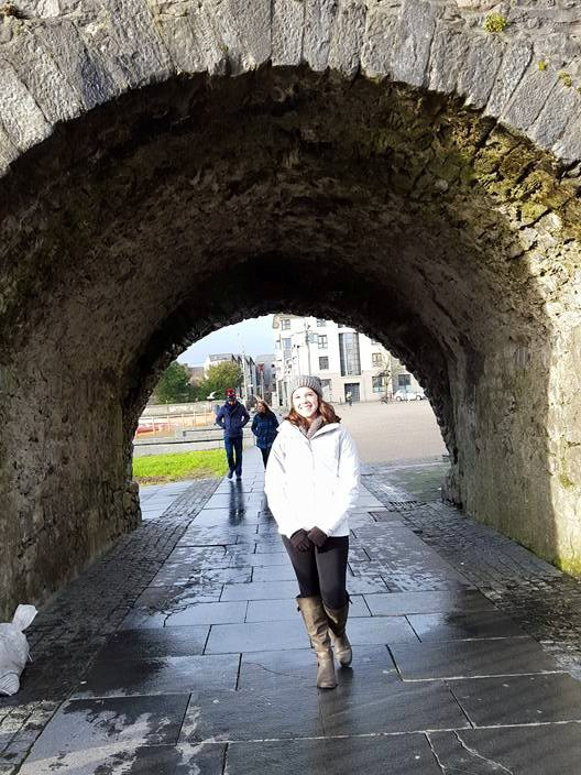 The Spanish Arch in the center of Galway city