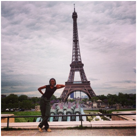 Me, at the Eiffel Tower
