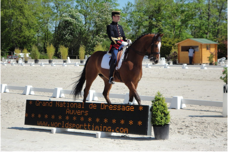 Grand National de Dressage: Auvers, a dressage competition that included levels up to Grand Prix.  This competition was hosted on the third largest sand arena in France