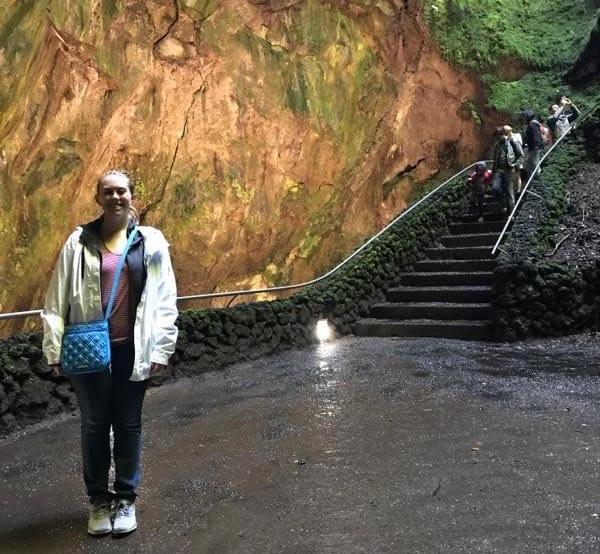 Me in Algar do Carvão, a lava-less volcano on Terceira.