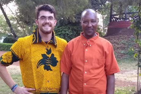 Costa, one of the camp staff members, who quickly became one of my better friends in Tanzania, and I.