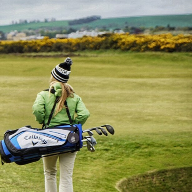Caddying the Old Course at St Andrews