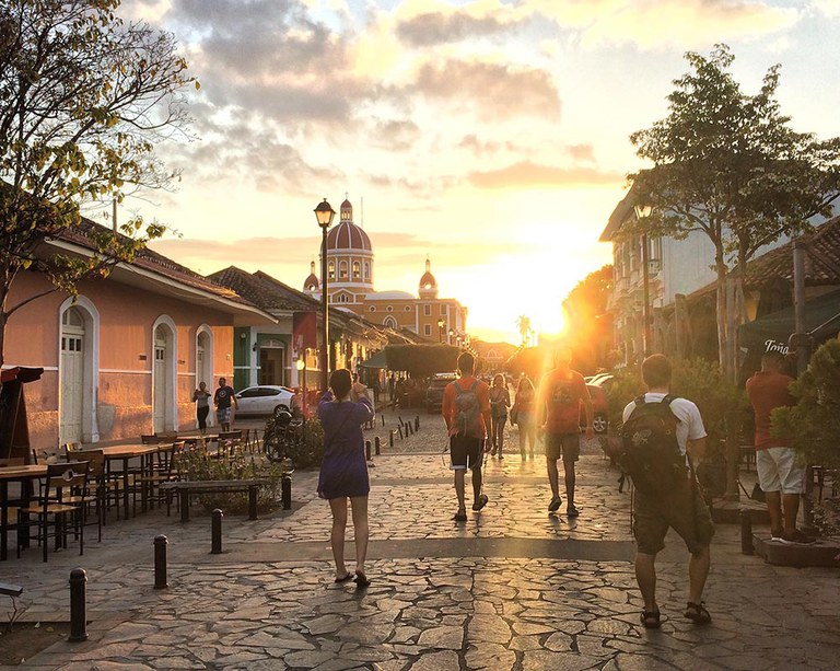 This photo depicts a sunset in Granada, Nicaragua with some of my best friends, after a day of studying the effect of tourism on local economies.