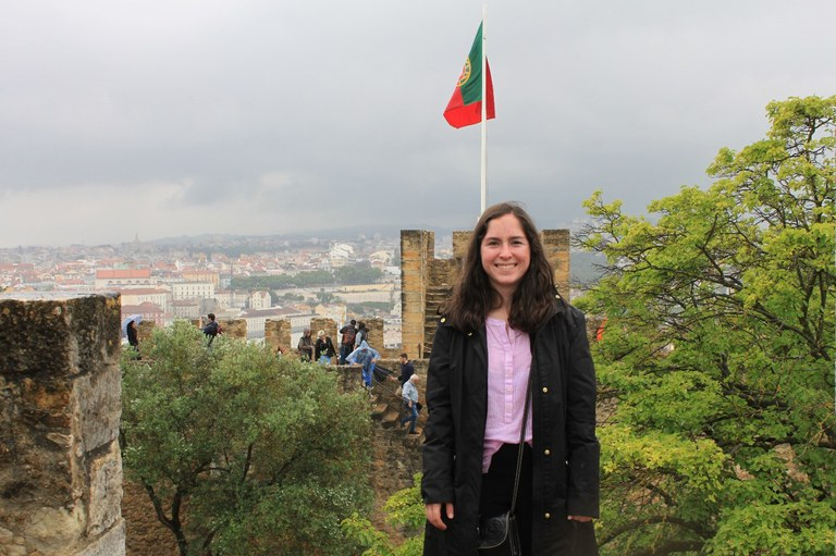 Me at the top of the Castle of Sao Jorge in Lisbon.