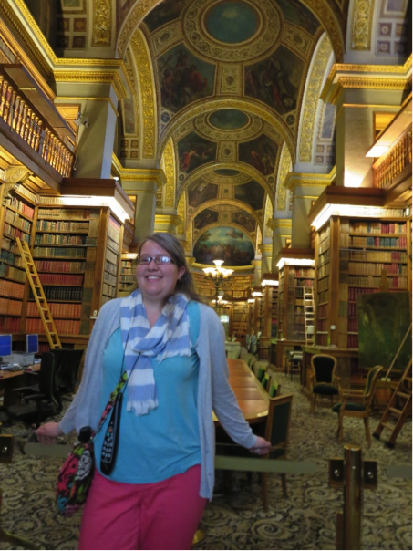Rebecca in the National Assembly Library