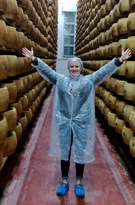 Visiting the Parmigiano Reggiano cheese production facility
