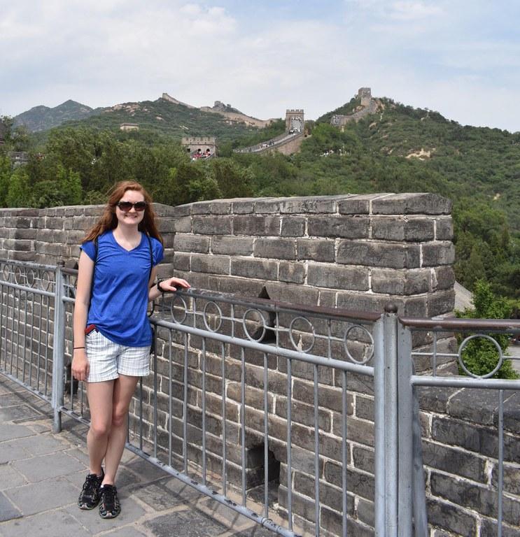 Sightseeing at the Great Wall of China