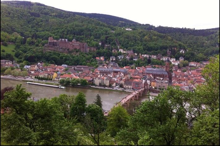 A wonderful view Heidelberg and the Heidelberg Castle.