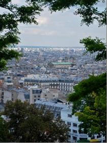 The city of Paris from the steps of the Basilique du Sacre-Coeur de Montmarter