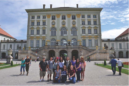The Penn State group at the Nymphenburg Castle right outside of Munich