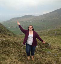 Me enjoying the beautiful scenery while traveling the Ring of Kerry