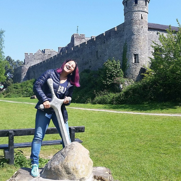 """I couldn't give a """"Cahir"""" in the world that I didn't pull the sword out, I saw a castle! Taken at Cahir Castle"""