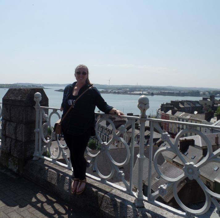 Enjoying the beautiful scenery and weather in County Cobh!