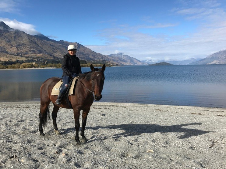 Here I am on a horse trek at the tip of Lake Wakatipu in Glenorchy, New Zealand.