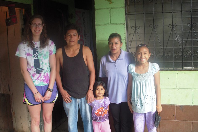 With my first homestay family in La Concepcion, Nicaragua
