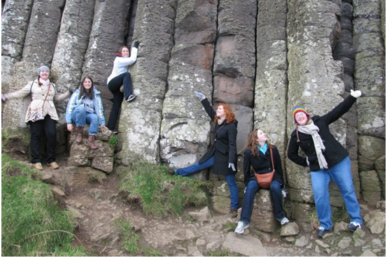 A handful of the friends that I made on my program and myself (far right) on a trip that our program planned for us to Belfast and the Giant's Causeway in Northern Ireland.