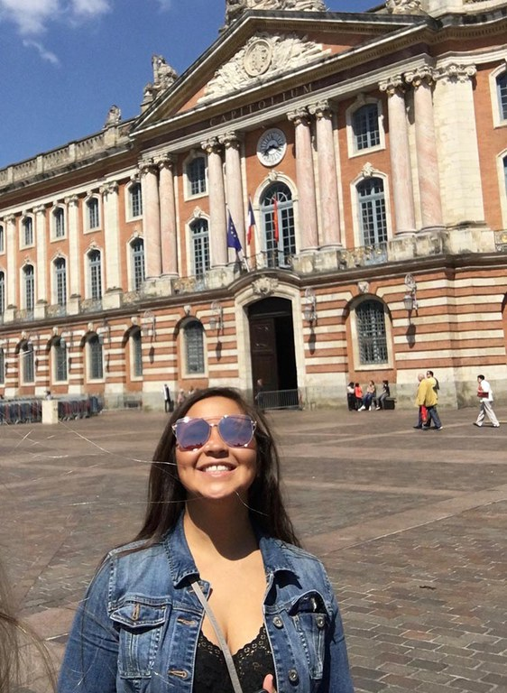 Me—In front of the Capital of Toulouse, France