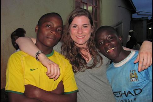 "Nora and ""ndugu zangu"" (""my little brothers"")"
