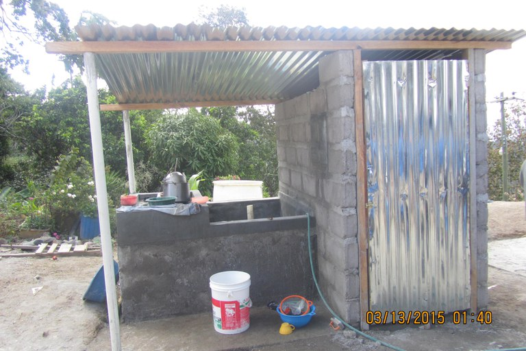 The hygiene station after it was finally finished!