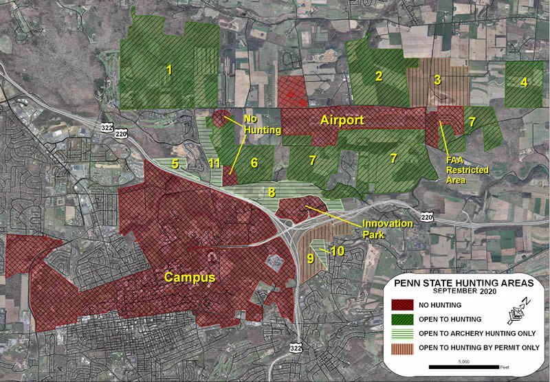 Map of University Park Hunting Areas