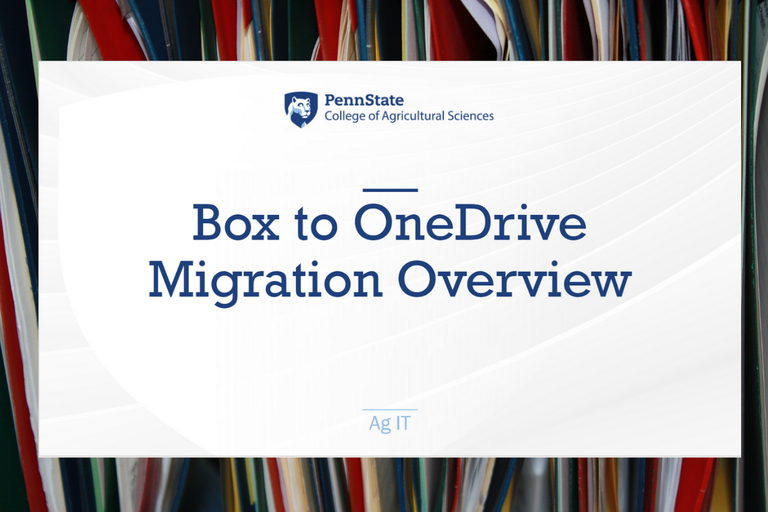Box to OneDrive Premigration Session