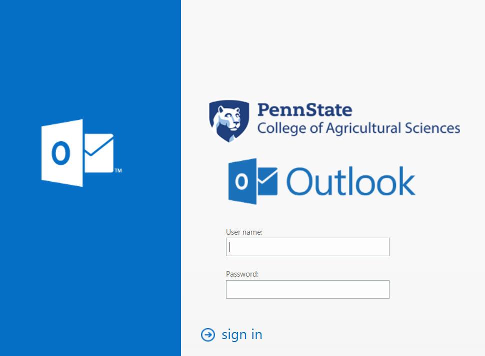 Outlook web app changes it's logon screen.