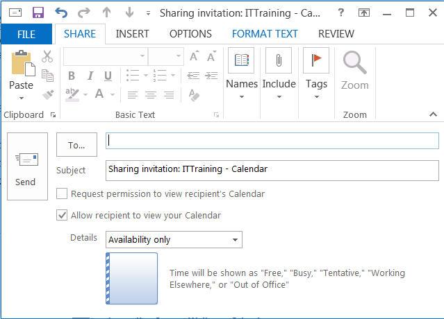 Outlook 2013/16 Share Calendar