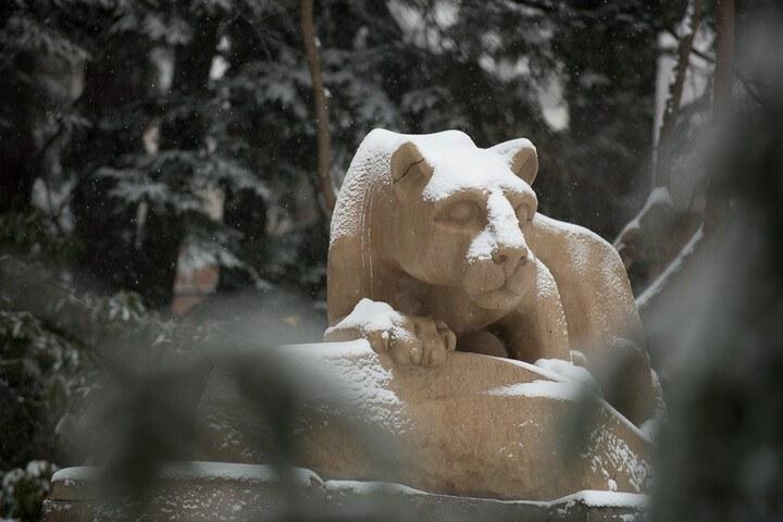 Lion Shrine in Winter