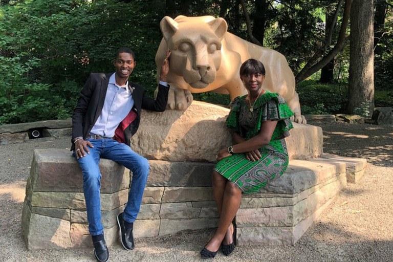 Boubou Sangho and Gladys Freeman