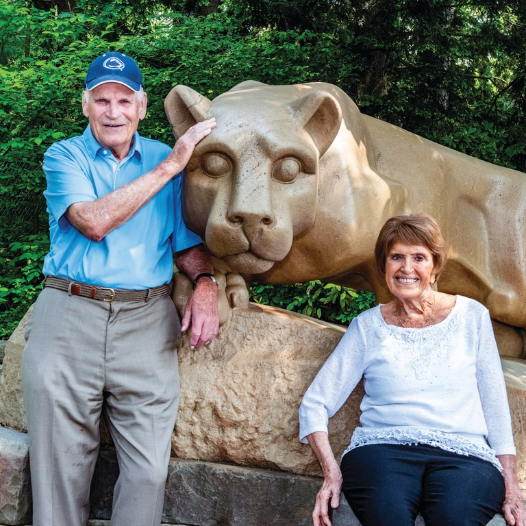 Jack Storer and his wife Mary enjoy returning to Penn State when they can. They live in Madison, Wisconsin.