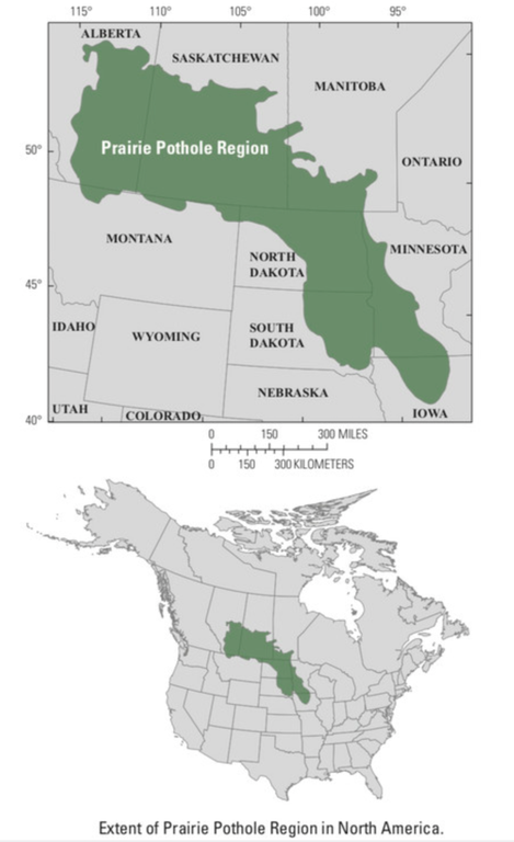 Map of the Prairie Pothole Region
