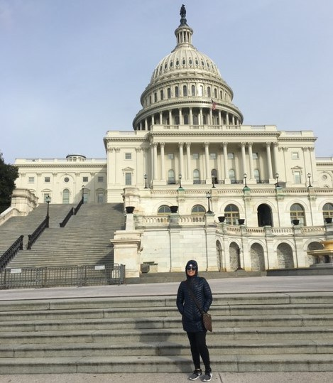 Mattie in front of the nation's Capitol for USApple Young Leaders Program