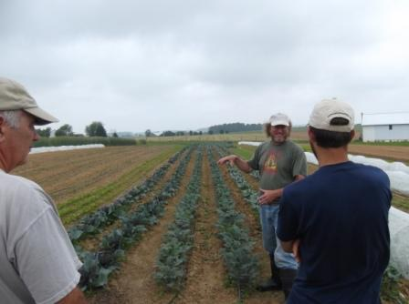 The organic vegetable patch boasts of onions, lettuce, kohlrabi, kale, eggplants, endamame, tomatoes and more.