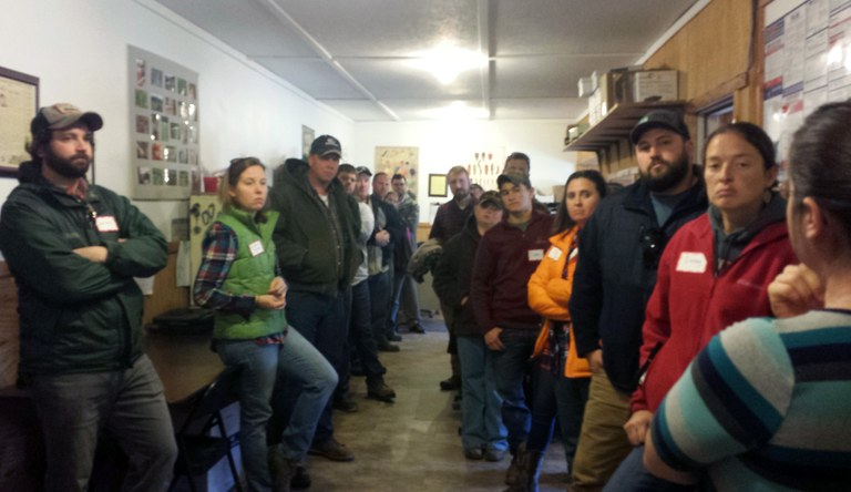 Learning about the daily operations of a food hub. Photo: Mike Basedow, Penn State