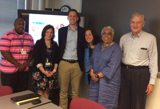 Ryan Lee (third from left) after successfully defending his dissertation.
