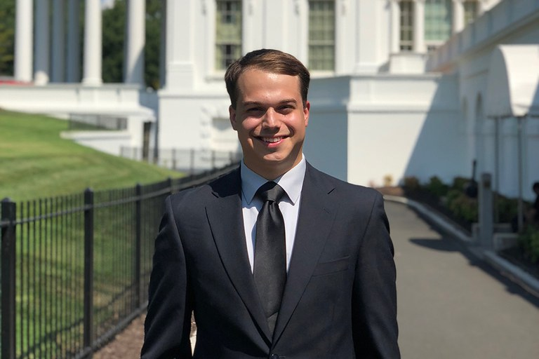 Tony Rice (Agribusiness Management, 2019) interned at the White House and in the Office of the U.S. Trade Representative in 2019.